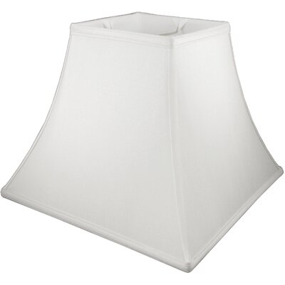 14 Faux Silk Bell Lamp Shade Color: White