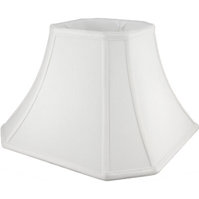 11 Faux Silk Bell Lamp Shade Color: White
