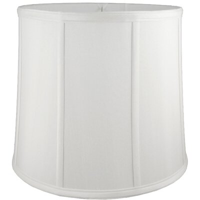 8 Faux Silk Drum Lamp Shade Color: White