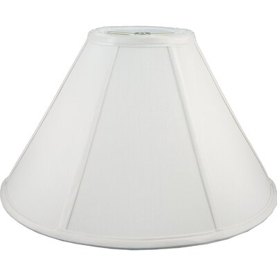 19 Faux Silk Empire Lamp Shade Color: White