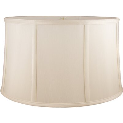 18 Faux Silk Drum Lamp Shade Color: Natural