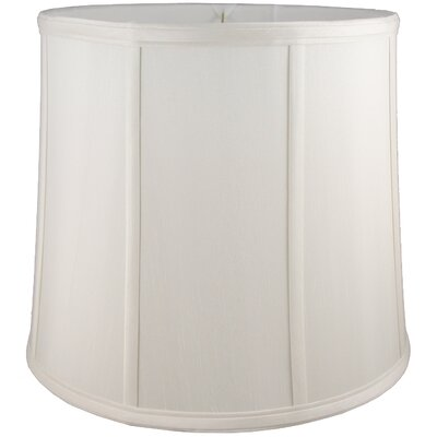 15 Faux Silk Drum Lamp Shade Color: Cream