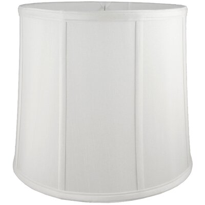 15 Faux Silk Drum Lamp Shade Color: White