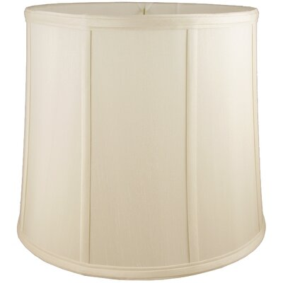 15 Faux Silk Drum Lamp Shade Color: Ivory