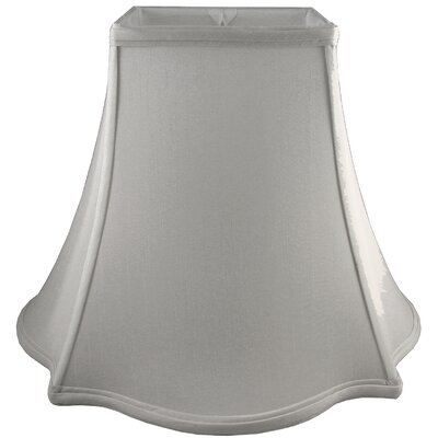 14 Faux Silk Bell Lamp Shade Color: Pebble
