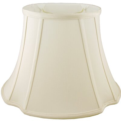 12 Faux Silk Bell Lamp Shade Color: Ivory
