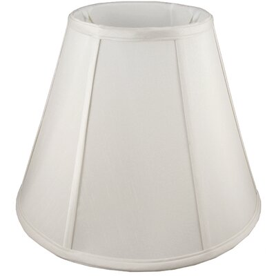 11 Faux Silk Empire Lamp Shade Color: Cream
