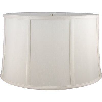 16 Faux Silk Drum Lamp Shade Color: Cream