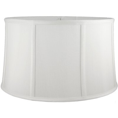 20 Faux Silk Drum Lamp Shade Color: White
