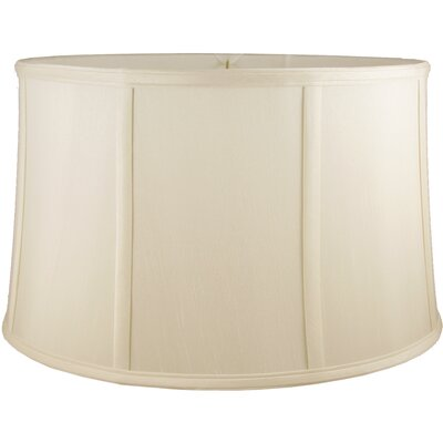 20 Faux Silk Drum Lamp Shade Color: Ivory