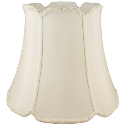 18 Faux Silk Bell Lamp Shade Color: Ivory