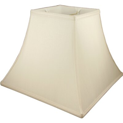 20 Faux Silk Bell Lamp Shade Color: Ivory