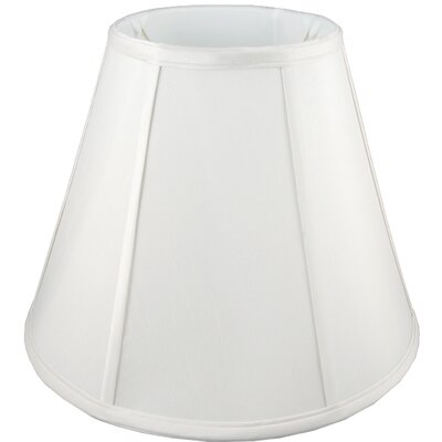 8 Faux Silk Empire Candelabra Shade Color: White