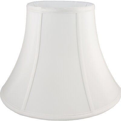 18 Faux Silk Bell Lamp Shade Color: White