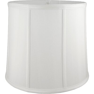 14 Faux Silk Drum Lamp Shade Color: White