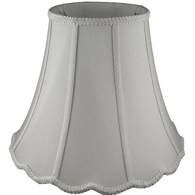 9 Faux Silk Bell Lamp Shade Color: Pebble