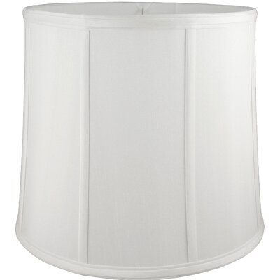 9 Faux Silk Drum Lamp Shade Color: White