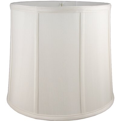 9 Faux Silk Drum Lamp Shade Color: Cream