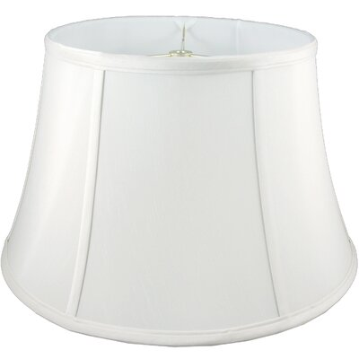 17.5 Faux Silk Bell Lamp Shade Color: White