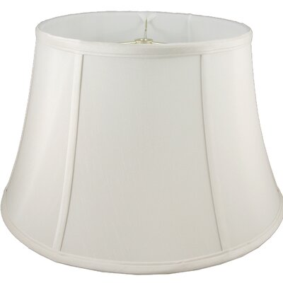 17.5 Faux Silk Bell Lamp Shade Color: Cream
