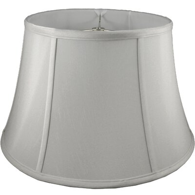 17.5 Faux Silk Bell Lamp Shade Color: Pebble