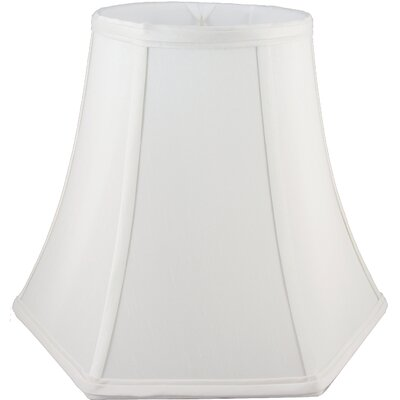 8 Faux Silk Bell Lamp Shade Color: White