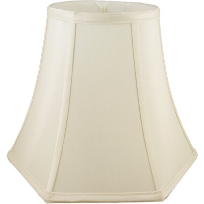 8 Faux Silk Bell Lamp Shade Color: Ivory