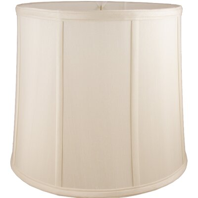 15 Faux Silk Drum Lamp Shade Color: Natural