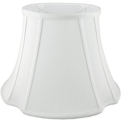 19 Faux Silk Bell Lamp Shade Color: White