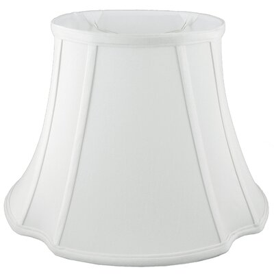 French 11 Silk Bell Lamp Shade Color: White