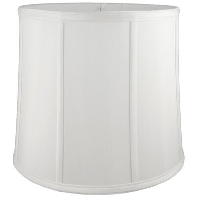 10 Faux Silk Drum Lamp Shade Color: White