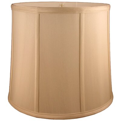 17 Faux Silk Drum Lamp Shade Color: Honey