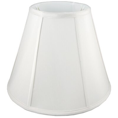 6 Faux Silk Empire Candelabra Shade Color: White