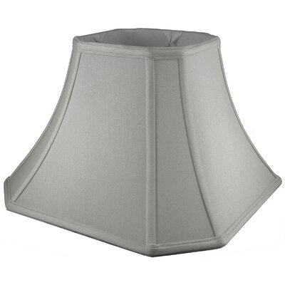 8 Faux Silk Bell Lamp Shade Color: Pebble