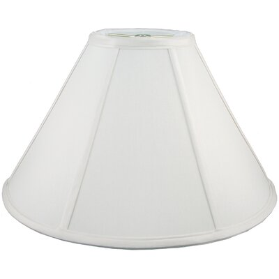 17 Faux Silk Empire Lamp Shade Color: White