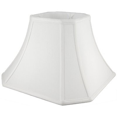 11.75 Faux Silk Bell Lamp Shade Color: White
