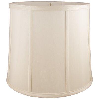 18 Faux Silk Drum Lamp Shade Color: Natural