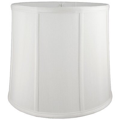 12 Faux Silk Drum Lamp Shade Color: White