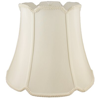 16 Faux Silk Bell Lamp Shade Color: Ivory