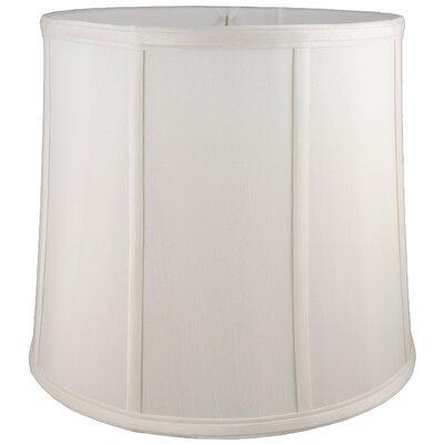 12 Faux Silk Drum Lamp Shade Color: Cream