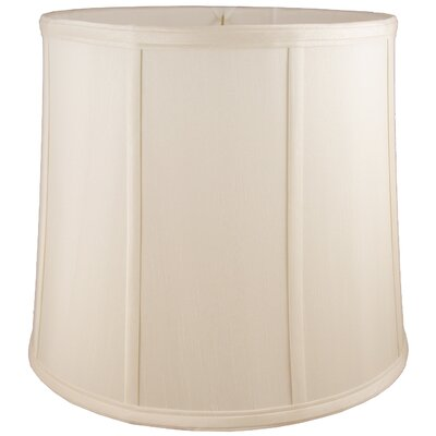 18 Faux Silk Drum Lamp Shade Color: White