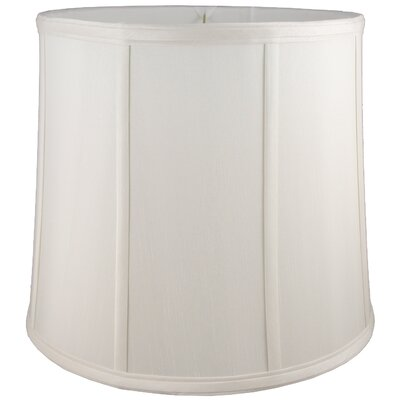 12 Faux Silk Drum Lamp Shade Color: Cream