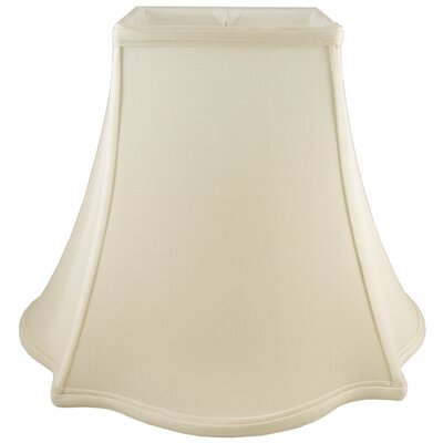 10 Faux Silk Bell Lamp Shade Color: Ivory
