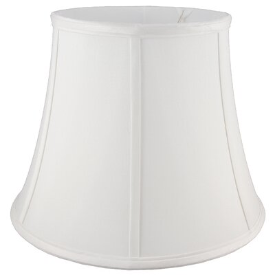 24 Faux Silk Bell Lamp Shade Color: White