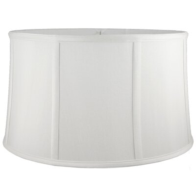 14 Silk Drum Lamp Shade Color: White