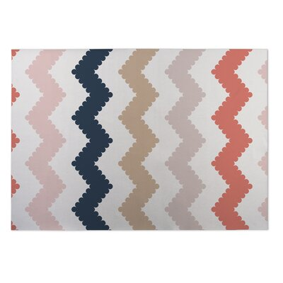 Play Chevron Beige Indoor/Outdoor Doormat Rug Size: 8 x 10