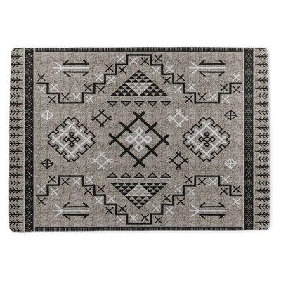 Burlington Marrakesh Gray/Black Area Rug Rug Size: 5 x 7