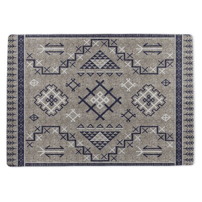 Burlington Marrakesh Gray/Blue Area Rug Rug Size: 5 x 7