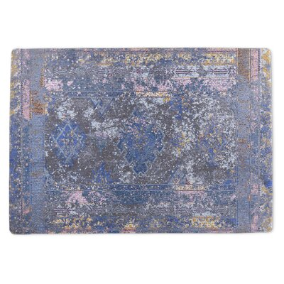 Burlington Mudslide Gray/Blue Area Rug Rug Size: 5 x 7