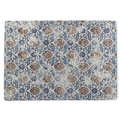 Burlington Blue/Orange Area Rug Rug Size: 3 x 5